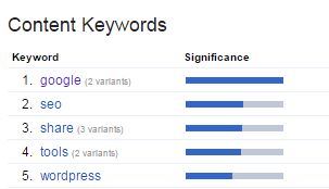 Content Keywords