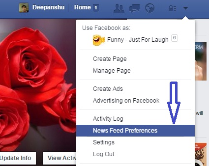Facebook Newsfeed Preference Option