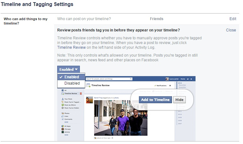 Review Posts in Facebook