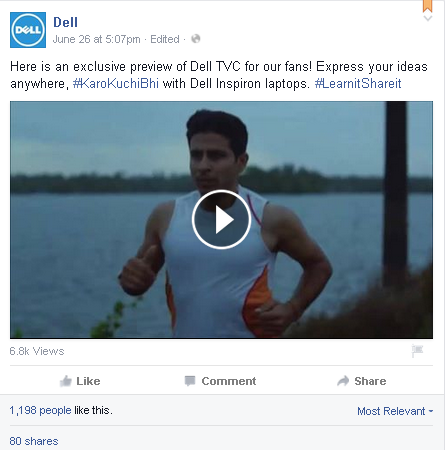 Interesting Facebook post - Dell