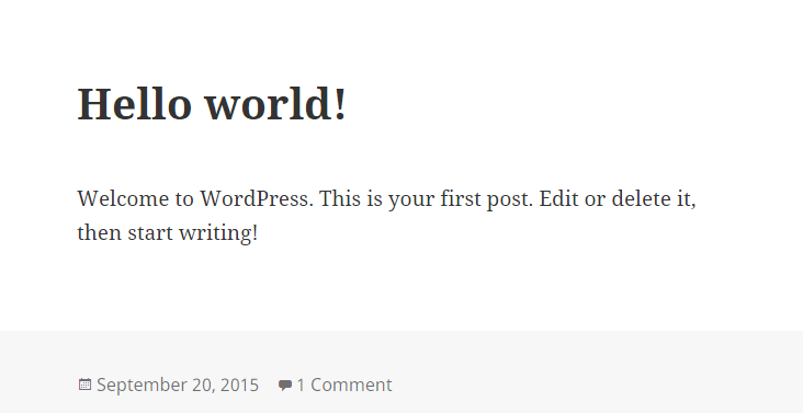 Your First Post in WordPress