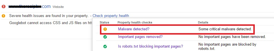 critical malware detected