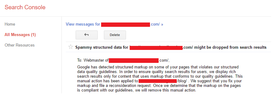 spammy structured data markup penalty