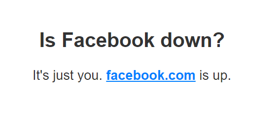 fb down for me or everyone