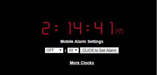 set alarm clock online